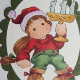 Magnolia Rubber Stamps – Tilda with Christmas Candle