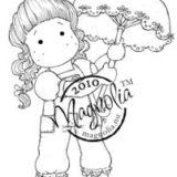 Magnolia Rubber Stamp – Tilda with Umbrella