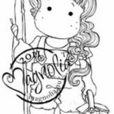 Magnolia Rubber Stamp – Tilda Goes Fishing
