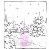 Magnolia Rubber Stamp – Winter Night Background