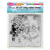 Stampendous 6CR003 Blossom Scroll cling stamp