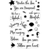 Hero Arts – CM174 Mer-Mazing Messages clear stamp set..
