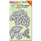 Stampendous CRS5067 Jumbo Hydrangea Garden cling stamp set – out of stock