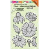 Stampendous CRS5082 Daisy Mix cling stamp set – out of stock