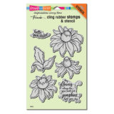 Stampendous Coneflower cling stamp set (CRS5104) – 1 only