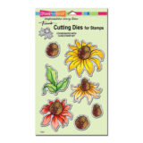 Stampendous Coneflower cling stamp set (CRS5104) and die set (DCS5104)