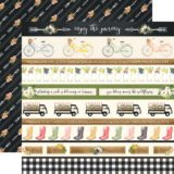 Carta Bella – Spring Market D/S Paper – Border Stripes (CBS006)- out of stock