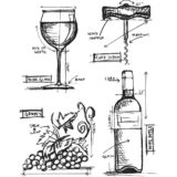 Tim Holtz/Stampers Anonymous CMS333 Wine Blueprint