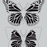 Darkroom Door Stencil – DDLS010 – Butterflies (large) – out of stock