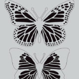 Darkroom Door Stencil – DDSS014 – Butterflies (small)