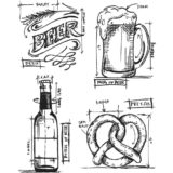 Tim Holtz/Stampers Anonymous CMS334 Beer Blueprint..