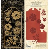 Graphic45 4501687 Large Tag, ATC Tag and Flower – out of stock
