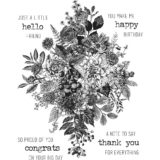 Tim Holtz / Stampers Anonymous CMS325 Glorious Bouquet (with grid block).. out of stock