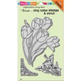 Stampendous CRS5102 Dutch Tulips (stamp and stencil set) – out of stock