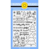Sunny Studio Stamps – Gleeful Reindeer (stamp and die bundle)
