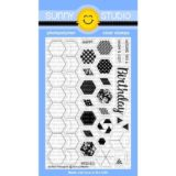 Sunny Studio Stamps – Quilted Hexagons (stamp and die bundle)