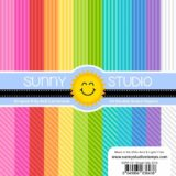 Sunny Studio Stamps – SSPP101 Striped Silly Paper pad (6×6″).. sold out