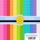 Sunny Studio Stamps – SSPP102 Polka Dot Parade paper (6×6″).. sold out