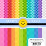 Sunny Studio Stamps – SSPP103 Classic Gingham paper pad (6×6″).. sold out