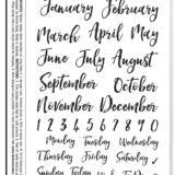 Darkroom Door – DDRS191 – Diary Dates Stamp Set