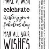 Darkroom Door – DDSE001 Happy Birthday Sentiment Stamps