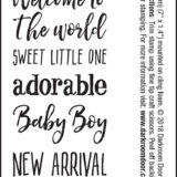 Darkroom Door – DDSE003 Baby Sentiment Stamps