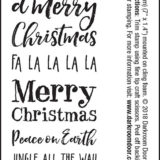 Darkroom Door – DDSE004 Christmas Sentiment Stamps