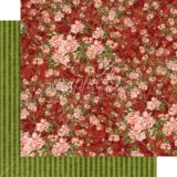 Graphic45 G4501691 Burgundy Blossoms 12×12 paper (1 sheet)