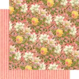 Graphic45 G4501693 Pink Lilies 12×12 paper (1 sheet)