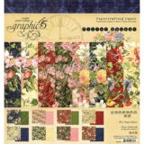 Graphic45 G4501697 Floral Shoppe Double-Sided Paper Pad 8″x8″  – 1 pad only left