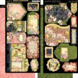 Graphic45 G4501699 Floral Shoppe Cardstock Die-Cuts 6″x12″ Sheets 2pkg – Tags & Pockets