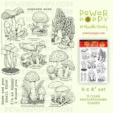 Power Poppy – Wild Mushrooms (large 6×8″ set) – out of stock