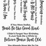 My Favorite Things – Sassy Pants Birthday Greetings stamp set