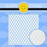 Sunny Studio Stamps – Dapper Diamonds Embossing folder (101)