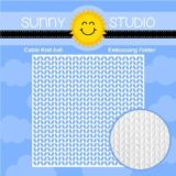 Sunny Studio Stamps – Cable Knit Embossing folder (102)