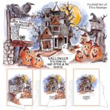 Art Impressions – 4688 Haunted House TriFolds Cling Rubber Stamps set