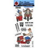 Art Impressions – 5044 Born To Ride – Work & Play Clear Stamps – out of stock