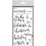 Ranger LetterIt Clear Stamp set – LEC63087 Christmas