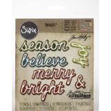 Tim Holtz / Sizzix 663104 Shadow Script Christmas