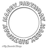 My Favorite Things – Happy Birthday Circle Frame die