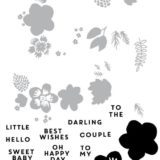 Concord & 9th – 10500 Darling Petals Turnabout stamp set