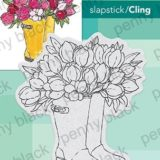 Penny Black – Blooming Boots (stamp & die bundle) 40-666 & 51-525 – out of stock