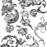 Tim Holtz CMS367 Scrollwork stamp set – out of stock