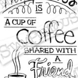 Stampendous – M308 Cling Shared Coffee