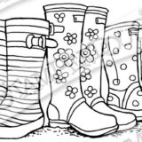 Stampendous – P300 Cling Puddle Boots