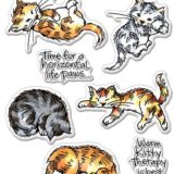 Stampendous – SSC1304 Kitty Therapy clear stamp set