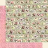 Graphic 45 – 4501869 Petal Postage 12×12 paper (1 sheet)
