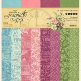 Graphic 45 – 4501872 Bloom 12×12 Patterns & Solids Pad
