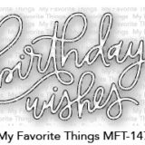 My Favorite Things – Birthday Wishes dienamics die