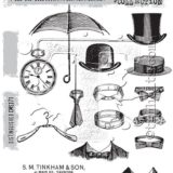 Tim Holtz / Stampers Anonymous – CMS371 Distinguished stamp set